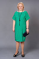 Платье женское большого размера Барбара зеленый