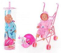 Кукла BB RT 07-02 CDZ  с коляской  HN KK