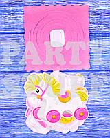 Бумажный декор Гирлянда для девочки, розовая