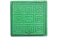 Люк садовый зеленый, фото 1