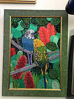 Картина бисером Попугаи (Маричка А3 формат)