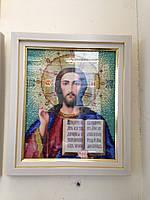 Икона бисером Иисус Вседержитель