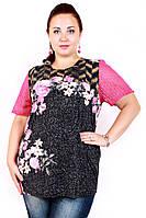 Туника большого размера Розалия(3 цвета), летняя туника большого размера, одежда больших размеров, супербаталы