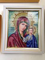 Икона бисером Божья матерь Казанская