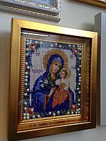 Икона бисером Божья матерь Неувядаемый цвет