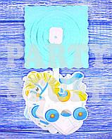 Бумажный декор Гирлянда для мальчика, голубая