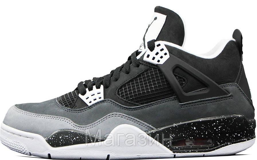 Баскетбольные Кроссовки Air Jordan 4 Retro (Найк Аир Джордан 4 Ретро) Серые  — в Категории