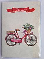 """Обложка на паспорт """" Велосипед"""""""