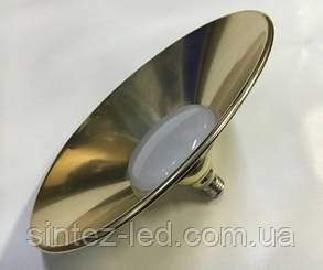 Светодиодная лампа Lemanso LM712 50W E27 6500K IP65 с отражателем античное золото Код.58715, фото 2
