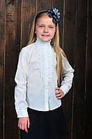 Нарядная белая школьная блуза
