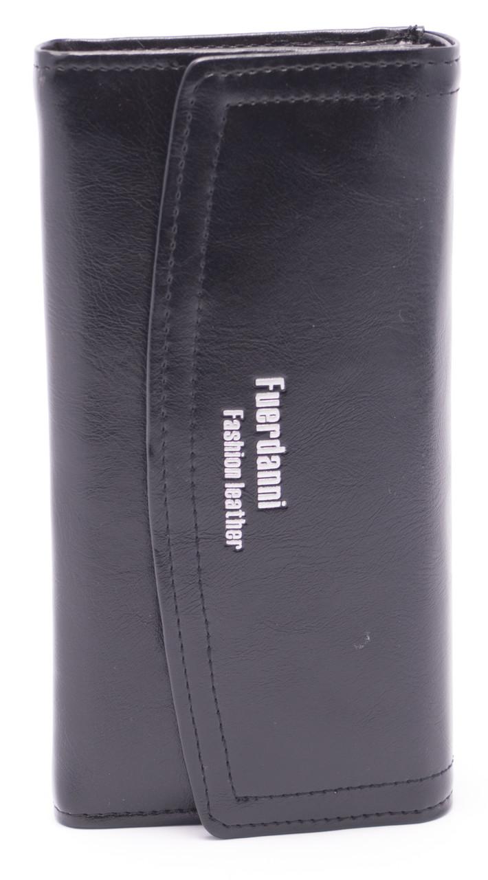 Черный классический женский кошелек FUERDANNI art. 88A57 black