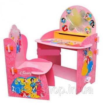 Парта М 0432 со стульчиком, Принцессы, зеркало.