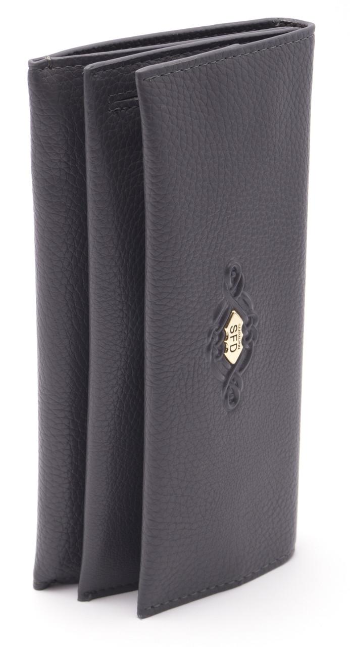 Женский мягкий кошелек серого цвета SACRED art. 3280 grey