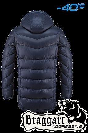 Мужская темно-синяя зимняя куртка на меху арт. 1377, фото 2