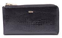 Женский качественный кожаный кошелек барсетка классика H.Verde art. 2596-67 black