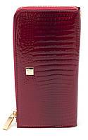 Женский качественный кожаный кошелек барсетка классика H.Verde art. 2596-44 red