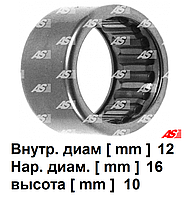 Подшипник стартера для Mercedes-Benz Viano 2.1 CDi. Виано. Игольчатый 12х16х10 мм. ABE9045 - AS PL.