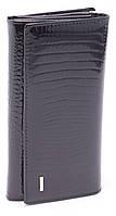 Женский качественный кожаный кошелек лак классика SALFEITE art. 2029-67 black