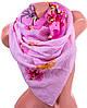 Восхитительный женский шарф из полиэстера 136 на 101 см ASHMA (АШМА) DS41-315-2 розовый