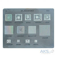Aksline BGA-трафарет A422 для China-phone universal, MT6572A, SC6825C, MT6582, MT6166V, SC6820, MTK6260CPU, SC6285A, Q309B849, MT6168A, MT6167A, 13 in