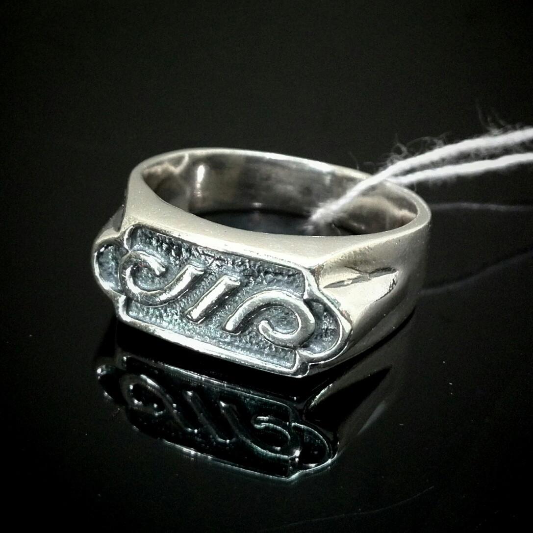 Серебряная мужская печатка с орнаментом, 4,7 грамма