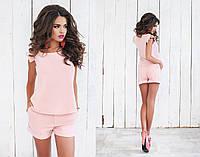 Летний розовый женский костюм