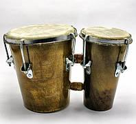Барабан двойной кожа и дерево
