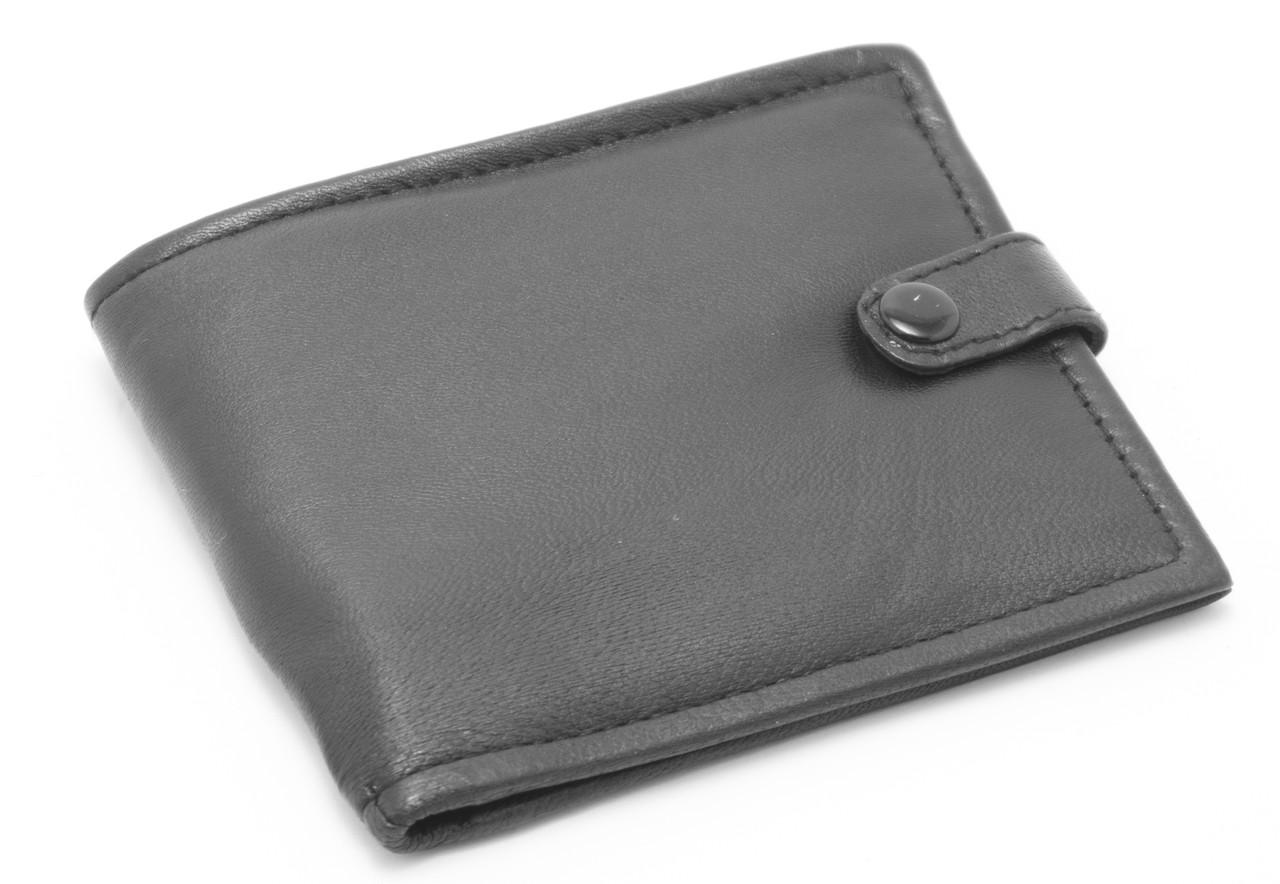 Кожаный компактный дешевый мужской  SWAN art. 0091-11-23586732 черного цвета