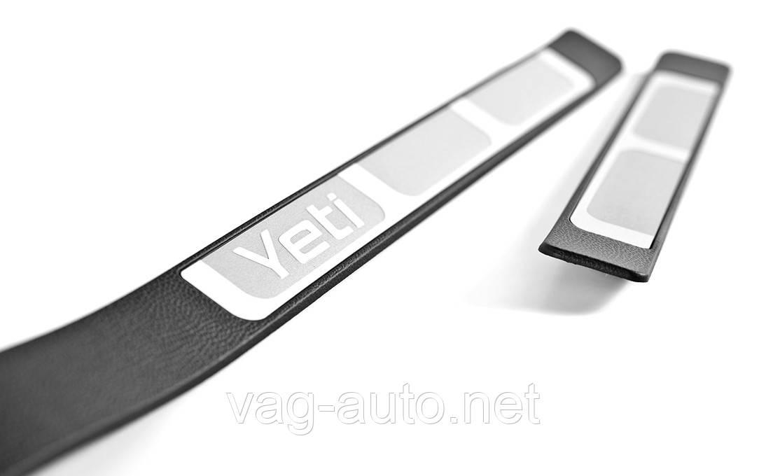 Накладки на пороги хром Yeti до 2013 г.в.