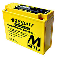 Аккумулятор для мотоцикла гелевый MOTOBATT AGM 20,5Ah 230A  размер 207 x 72 x 164 MB16AU