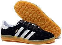 """Кроссовки Adidas Gazelle Indoor """"Black White"""" - """"Черные Белые"""" (Копия ААА+), фото 1"""