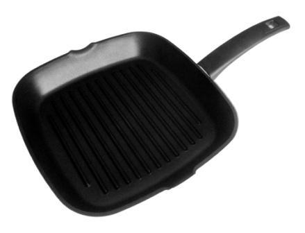Сковорода-гриль без крышки черная