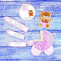 Веер для декора детской комнаты, розовый