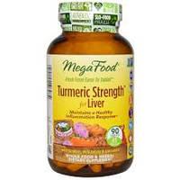 Куркумин, Turmeric Strength, for Liver, MegaFood, 90 таблеток