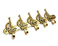 Вешалка для одежды бронзовая Парусники