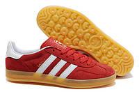 "Кроссовки Adidas Gazelle Indoor ""Red White"" - ""Красные Белые"" (Копия ААА+), фото 1"