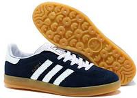"""Кроссовки Adidas Gazelle Indoor """"Dark Blue"""" - """"Темно синие Белые"""" (Копия ААА+), фото 1"""