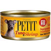 Brit Petit Тунец и Креветки  для собак 80 гр