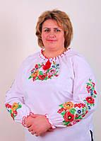 Женская вышитая блуза размеры 46-62