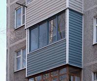 Обшивка фасада балкона