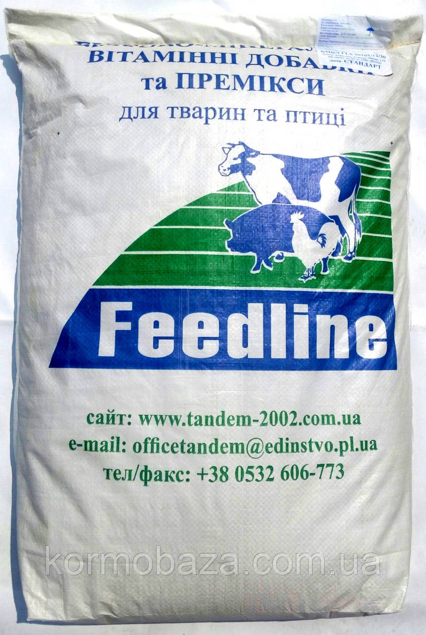 Добавка для свиней Feedline  3060/15/25 - гровер 15%  Премиум