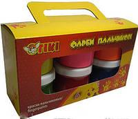 Пальчиковые краски 6 цв.  50405-ТК Tiki