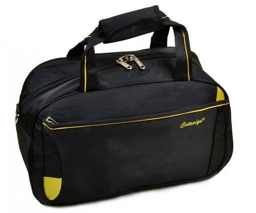 Дорожная удобная сумка-саквояж из нейлона 34 л. 22806 20 Medium black (черный)