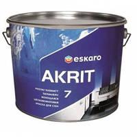 Моющаяся шелково-матовая краска для стен Eskaro Akrit 7 (2,85 л)
