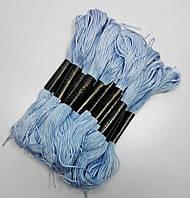 Нитки мулине хлопчатобумажные сиренево-голубые