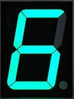 Индикатор семисегментный зеленый (общий катод, 1 символ, высота символа 13мм)