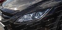 Реснички Мазда 6 GH (накладки на передние фары Mazda 6 GH)
