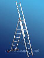 Лестница STS 3х11, Босния и Герцеговина. алюминиевые трехсекционные лестницы. алюминиевая лестница