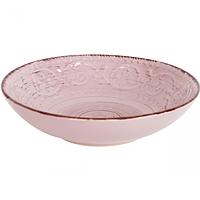 Тарелка 19 см суп. античная розовая.
