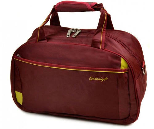 Дорожная удобная сумка-саквояж из нейлона 34 л.  22806 20 Medium bordo (бордовый)